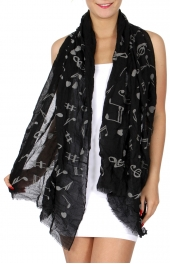 Wholesale I43A Exciting music lessons print summer scarf Dozen