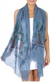 Wholesale I36A Shopping day print summer scarf Dozen