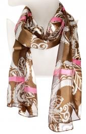 Wholesale O43B Paisley leaf satin scarf