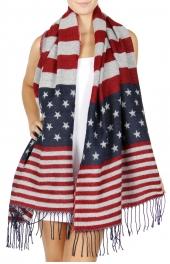 Wholesale Q61C Oversized american flag scarf