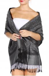 wholesale D35 Whole Jacquard Pashmina 75 L Slate Grey
