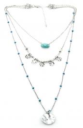 Wholesale M12C Three tier beaded necklace SB fashionunic