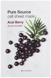 Wholesale MISSHA Pure Source Cell Sheet Mask [Acai Berry] 21g (5 pack)