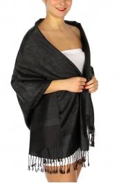 wholesale D33 Whole Jacquard Pashmina 36 Black