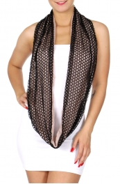 Wholesale I41 Two tone lightweight lace infinitiy scarf Dozen
