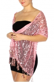 wholesale I51 Oblong sequin Party Shawl White
