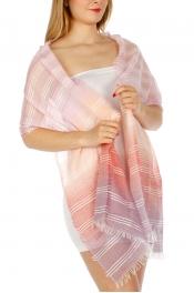 Wholesale H48C Lace Ombre Stripe Scarf AQGN