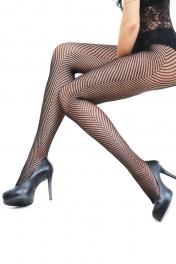 wholesale L71 wide V black fishnet pantyhose fashionunic