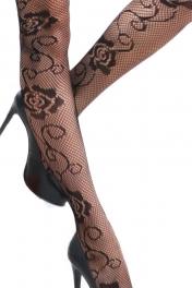 wholesale M03 big rose black fishnet pantyhose