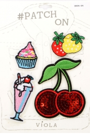 Wholesale L08B Food Theme Iron-on Apparel Patch Set