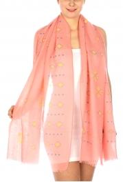 Wholesale I04B Diamonds & dots print scarf BL