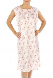 wholesale M02 Cotton blend heart nightgown Peach L