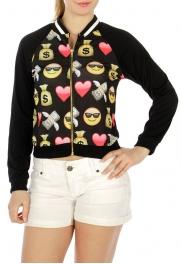 Wholesale G07 Neckline contrast trim jacket Emoji