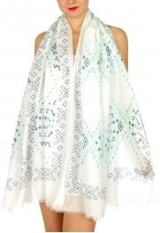 Wholesale H32C Aztec diamond print scarf BL