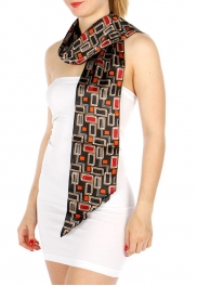 Wholesale P18B Bias Tie Neck Scarf BK/BE