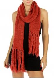 wholesale O58 Long dense Knit ash shawl Rust fashionunic