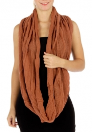wholesale Q65 Roll up edge knit infinity scarf Rose BR