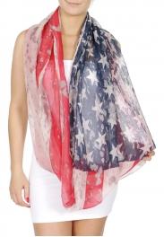 Wholesale H30E Patriotic infinity scarf USA