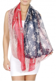 Wholesale H30E Patriotic infinity scarf USA
