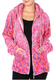 Wholesale F27 Letter print hooded jacket XL Pink