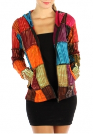 wholesale G20 Checker patchwork hoody jacket M