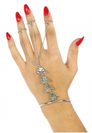 Wholesale L21 Metal triangle rings to bracelet R