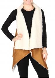 Wholesale R21S Faux suede vest Camel