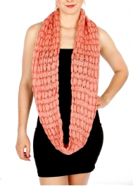 Wholesale T23D Knit Infinity Scarf w/ Sequins PN