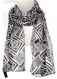 Wholesale O43B Abstract diamond satin scarf