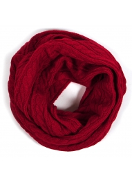 wholesale Q18 Solid cable knit infinity scarf BK