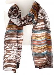 Wholesale WA00 Brushed tribal satin scarf