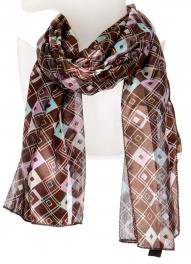 Wholesale O44B Geometric diamond satin scarf