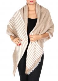 Wholesale Y20A Thin stripe blanket scarf BLK