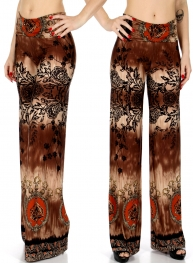 Wholesale C04B Filigree palazzo pants