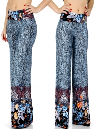 Wholesale B01C Animal print palazzo pants