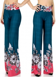 Wholesale B02D Bold floral palazzo pants