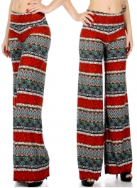 Wholesale P20 Floral filigree palazzo pants