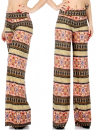Wholesale P20 Floral tiles palazzo pants