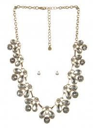 wholesale Clutter stone necklace set GDCL fashionunic