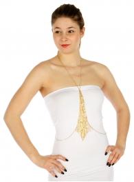 Wholesale L03B Fringe charm body chain GD