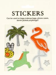 Wholesale WA00 Flamingo PU sticker set for clothes & accessories