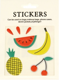 Wholesale WA00 Summer fruits PU sticker set for clothes & accessories