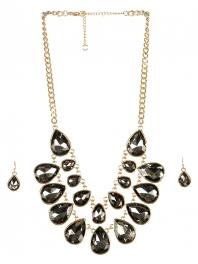 wholesale Stone drop necklace set GDBD fashionunic