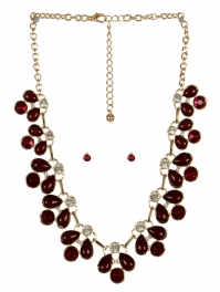 wholesale Clutter stone necklace set GDBUG fashionunic