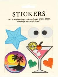Wholesale WA00 Martini PU sticker set for clothes & accessories
