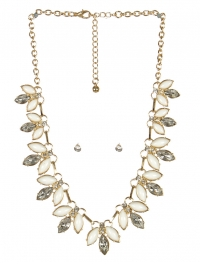 wholesale Pointed stone necklace set GDIVY fashionunic