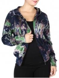 Wholesale U67A Cotton full-zip hooded jacket Navy