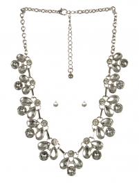 wholesale Clutter stone necklace set RHCL fashionunic