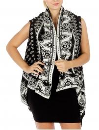 Wholesale R34 Abstract hi low knit vest BK fashionunic