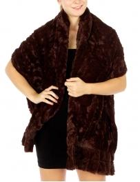 wholesale R61 2 layer ruffle casual faux fur shawl BR